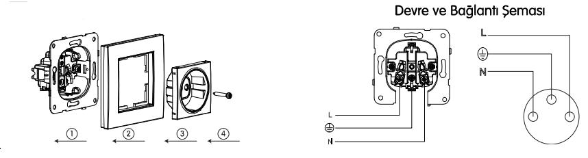 viko anahtar priz şeması
